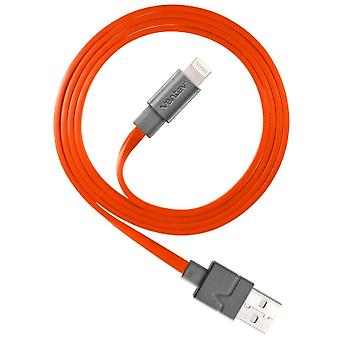 Ventev flat tangle-resistant charge sync Lightning Cable 3.3ft. - Orange