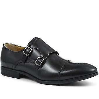 Steptronic Mens Fresno Wide-Fit Leather Double Monk Strap Shoe