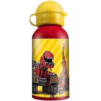 DINOTRUX Children's aluminium water bottle red yellow 400 ml