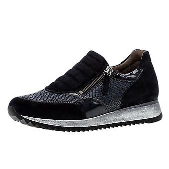 Gabor Ling moderne Wildleder Wide Fit Sneakers In Navy