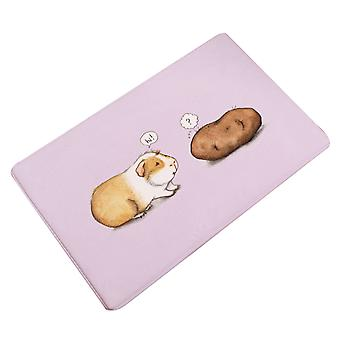Non-slip bath mat animal print flannel bath mat Bath Rug Non Slip Absorbent Bathroom Rugs with PVC Backing Ultra Soft Bath Room Floor Mat