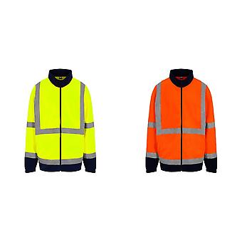 PRO RTX High Visibility Mens Full-Zip Fleece