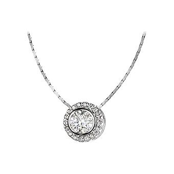 Jacques Lemans - Sterling Silver Necklace with White Topaz - SE-C105A