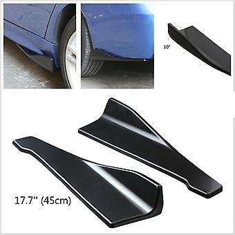 Mercedes Benz CLA CLass CLA180, CLA200, CLA220, CLA250 2 PCS 45cm Gloss Black Car Side Skirt Rocker Panel Splitter Spoiler Blades