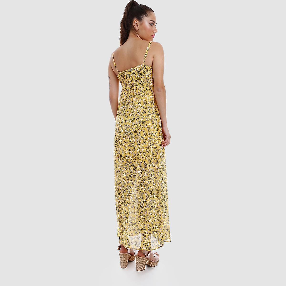 Robe longue jaune d'Edet TCf4lg