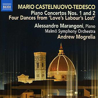 M. Castelnuovo-Tedesco - Mario Castelnuovo-Tedesco: Piano Concertos Nos. 1 and 2 [CD] USA import