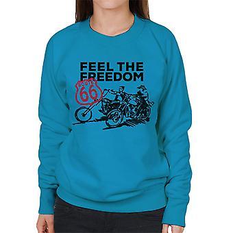 Route 66 Känn friheten kvinnors Sweatshirt