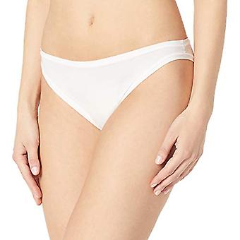 Brand - Mae Women's Standard 3 Pack Perfect FIT Bikini, as/as/jet black, rabbit, bright white, SMALL