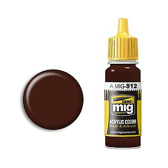 Ammo by Mig Acrylic Paint - A.MIG-0912 Red Brown Shadow (17ml)