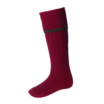House of Cheviot Country Socks Estate ~ Brick Red