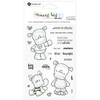 Hampton Art Rhino Rascals Clear Stamps