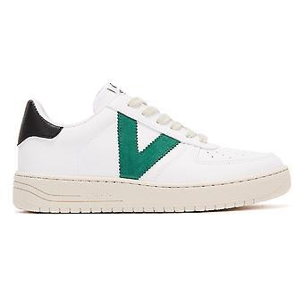 Victoria Siempre Contrast Vegan Womens White / Green Trainers