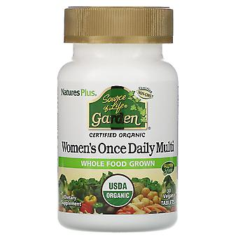 Nature's Plus, Source of Life Garden, Women's Once Daily Multi, 30 compresse vegane