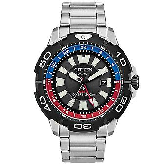 Citizen Watches Bj7128-59e Mens Eco-drive Promaster Diver Gmt Stainless Steel Watch