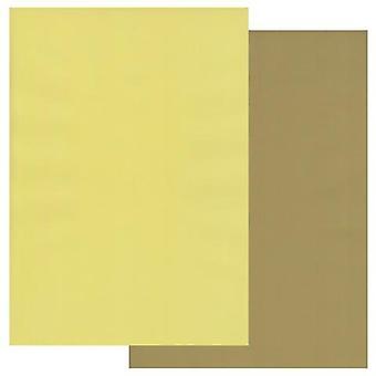 Groovi Perkament Papier A4 Twee tonen Olive Groen-Primrose Geel