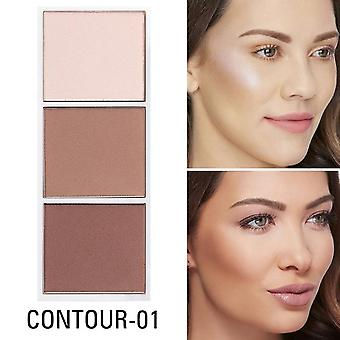 4 Colors Bronzer & Highlighter Palette - Makeup Face Contour Powder