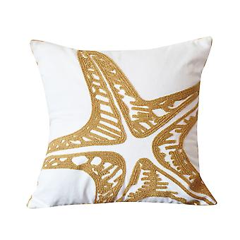 YANGFAN Embroidered Cotton Decorative Throw Pillow