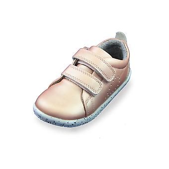 Bobux i-walk grass court rose gold trainer shoes