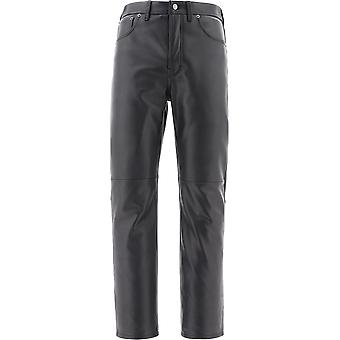 Acne Studios Bk0311black Men's Black Leather Pants