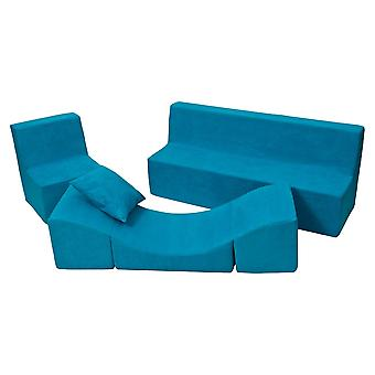 Schuim meubelset peuter compleet blauw