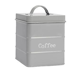 Industrielle Kaffeekanister - Vintage-Stil Stahl Küche Lagerung Caddy mit Deckel - grau