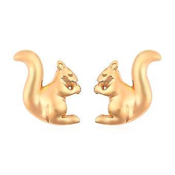 Boucles d'oreilles TJC Bunny avec Push Back en 14ct Or plaqué Sterling Argent