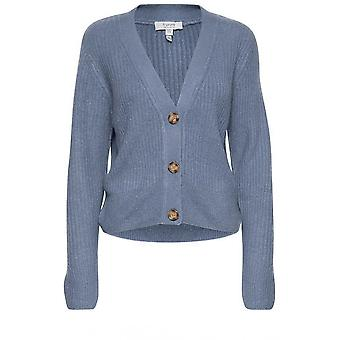 b.jeune Nora Country Blue Ribbed Cardigan