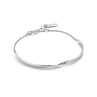 Ania Haie Sterling Silver Rhodium Plated Twist Bracelet B012-02H