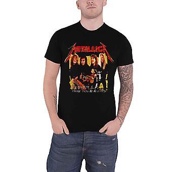 Metallica T Paita Autotalli Kuva Keltainen Bändi Logo uusi Virallinen Mens Musta