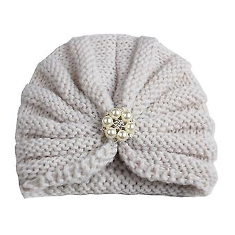 Knitted Winter Baby Hat For Girls Candy Color Bonnet Enfant Baby Beanie Turban Hats Cap For Boys Accessories