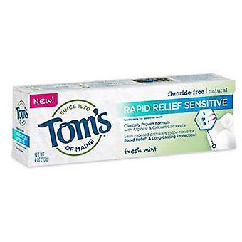 Tom's Of Maine Rapid Relief Sensitive Toothpaste, 4 OZ
