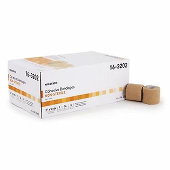 McKesson Cohesive Bandage, 2 Inch X 5 Yard, Tan, Case of 36