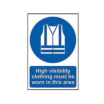 Scan High Visibility Jassen moeten worden gedragen in dit gebied - PVC 200 x 300mm SCA0022