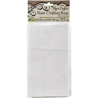 "Sacs en papier Darice 3.5""X6.5"" 40/Pkg-White"