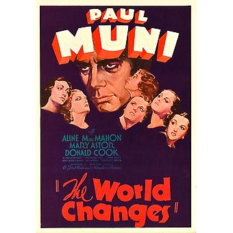 The World Changes Center Paul Muni On Midget Window Card 1933 Movie Poster Masterprint