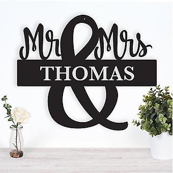 Mr. And Mrs. Monogram Metal Wall Art/decor