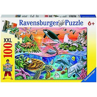 Prachtige oceaan puzzel van Ravensburger XXL 100 stukjes