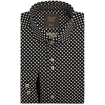 Fratelli Uniti Diamond Shape Pattern Pure Cotton Mens Shirt
