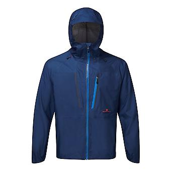 Ronhill Infinity Fortify mens totalmente impermeable y transpirable Running chaqueta Midnight Blue