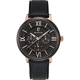 Pierre Lannier Klokke 254c433 - Menns Svart Skinn Multifunksjon Watch