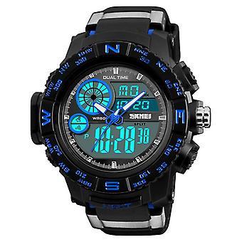 SKMEI 1332 Dual Display Digital Uhr Männer Chronograph Alarmuhr wasserdicht