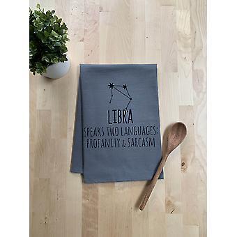 Libra Zodiac beszél két nyelven káromkodás és szarkazmus Dish Törülköző