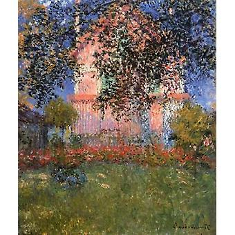 Monets talon Argenteuil 1876 Juliste Tulosta Claude Monet