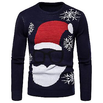 Homemiyn Men's Round Neck Christmas Knitted Sweater Mode Warm Sweater