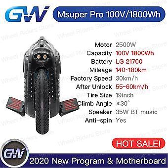 Gotway Msuper Pro 100v 1800wh 19inch חשמלי חד אופן איזון עצמי קטנוע