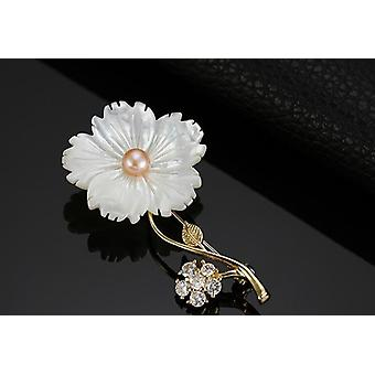 925 Sterling Silver Broches Designer Merk Zircon Insert Flower Pin