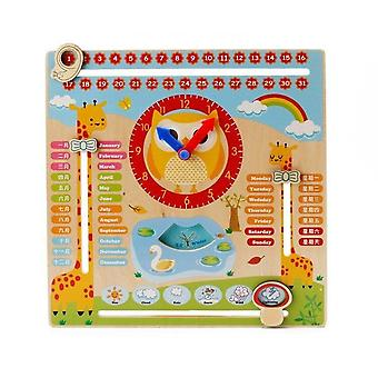 Wooden Magnetic Reward, Activity Responsibility Chart Calendar For  Kids