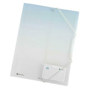 Rexel Ice A4 File 4-Fold Durable Elasticated for 300 Sheets - Pack of 4