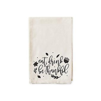 Eat Drink Be Thankful-cotton Muslin Napkins