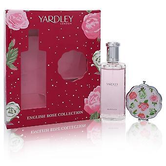 Englantilainen Rose Yardley lahjasetti Yardley London 4.2 oz Eau de Toilette Spray + Compact Mirror